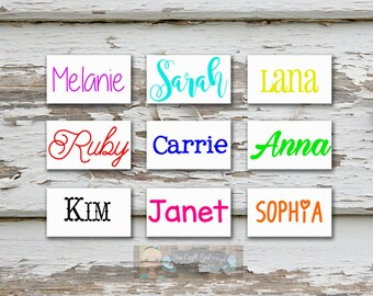 Personalized Name Decal   Custom Vinyl Decal   Name Sticker Decal   Wedding Party Gift   Name Decal   Name Water Bottle Decal   Car Decal