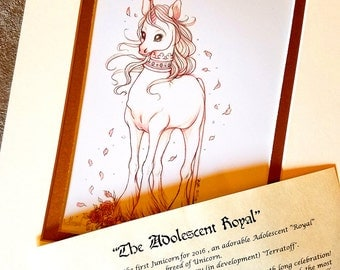 The Adolescent Royal - Junicorn Limited Run Double Matted Print with Story Scroll