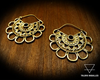 Boucles d'oreille laiton  # ethnic brass earing