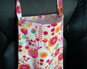 Pink Birds and Flowers Auto Reusable (or anything storage) Bag