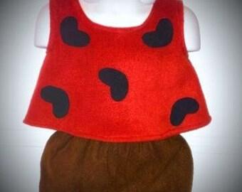 Ready To Ship 24m/2T Flintstones Pebbles Halloween Costume Set Boutique PAGEANT
