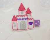 Princess Castle Hair Bow- Pink and Purple Princess Fairy Barrette for Girls- Great Disney Trip Accessory