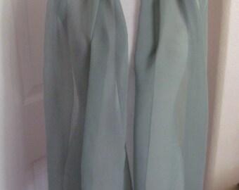 "Tweeds // Vintage Solid Green Silk Scarf // 17"" x 64"" Long // Best of the Best"