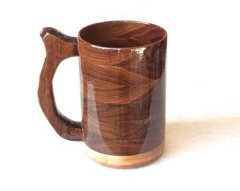 Handcrafted Wood Mug Walnut 20 oz Beer Stein, Tankard, Mug, Beer Mug, Wood Drinking Vessel, Beer Stein, Wood Beer Mug