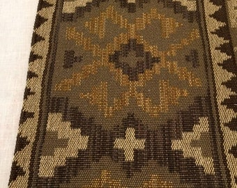 TRL1504E  Vintage Upholstery Fabric Table Runner, Table Linen, Table Cover, Upholstery, Indian Design,SW Design, Table Cover, Throw, Up cycl