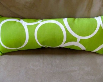 Pillow 1501 Throw Pillow, Throw  Pillow,  Pillow, Pillows, Retro Bright Green Designer Fabric Back and Neck Pillow, Overstuffed