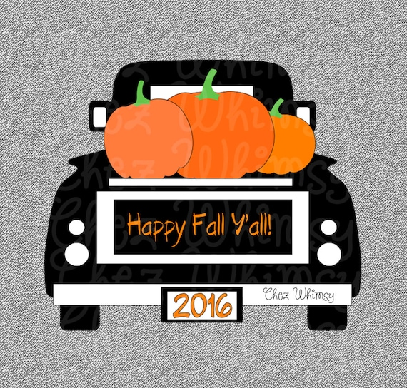 Truck SVG Pumpkin Truck SVG Fall Pumpkin Truck Design Happy