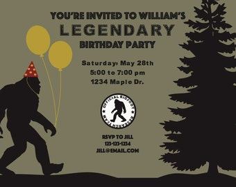 Bigfoot Party Invitation