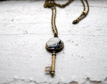 Queensboro Bridge New York City Photo Jewelry Key Necklace, NYC Jewelry, Queens Photography