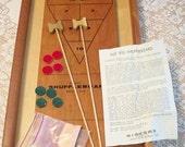 Vintage Drueke 320 Shuffleboard Wood Game in Original Box with original Paperwork instructions