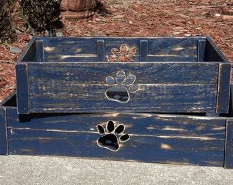 Storage Crate, Cat Paw Cutout, Tote Box, Dog Paw