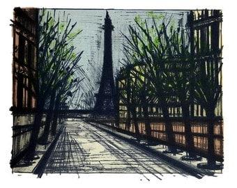 Mid Century Expressionist Bernard Buffet Paris The Eiffel Towel  38