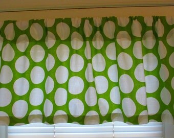 SALE SALE  Window Curtain Valance Premier Prints GREEN  Polka Dot