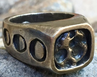 Full Moon Signet Ring - Solid Sterling
