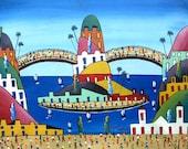 "Haitian Art, Haitian Painting, Canvas Art, Hand Painted Canvas Painting, Original Art of Haiti - Ethnic Art -  20"" x 24"""
