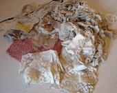 Vintage Lace Crochet and Trim Lot