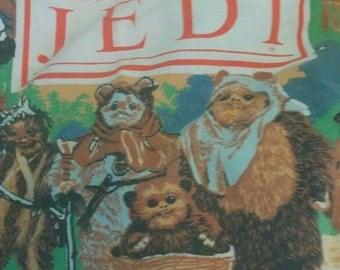 Vintage Star Wars Return Of The Jedi Flat Twin Sheet