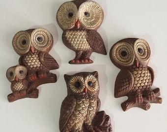 Mid Century Styrofoam Owl/Vintage Owl/ Baby Owl/Brown Owl/ What the Hoot/ By Gatormom13