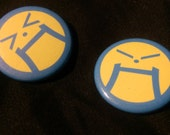 """1.25"""" Ace Attorney Angry Face Buttons"""