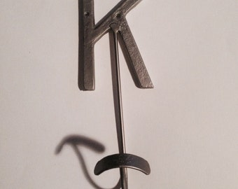 METAL HOOK, Letter K -- for Jackets, Caps, Towels, Robes, Whatever!