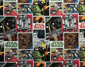 Star Wars Fabric Vintage Comic Quilters Weight Cotton Fabric By The Yard