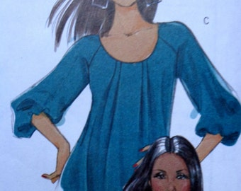 Plus Size Pleated Blouse Top Tunic Pattern Size 16 to 22