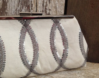 Bridesmaid Clutches Silver Sequins