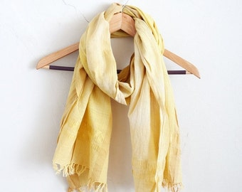 ON SALE Fusticwood + Gold Fair Trade Handwoven Cotton Scarf
