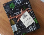 Set of 4 or 6  Eco-Friendly / 100% Cotton Napkins  / Wine Napkins / Grey / Gold / Wine / Burgundy (LB155)
