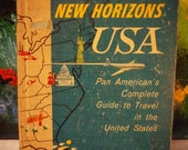 1956 New Horizons USA HC Pan Am  Travel Guide