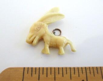 Vintage Celluloid Donkey Charm - Big Head Donkey Big Ears