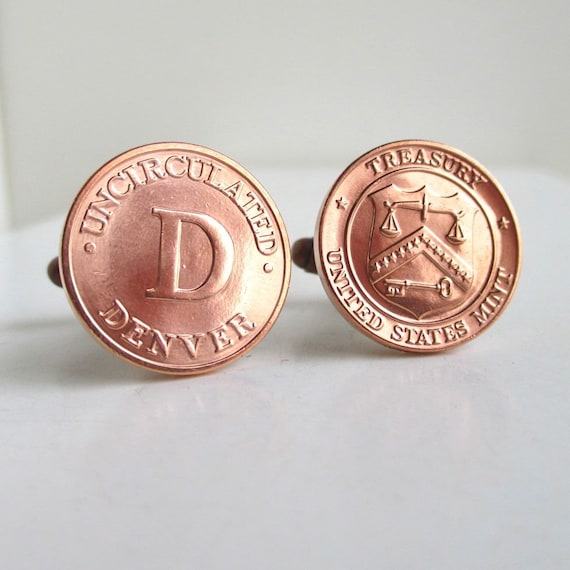 Denver Mint Cuff Links Copper Penny Uncirculated By Lucra