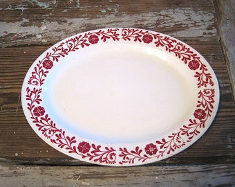 Large Oval 1940's Era Homer Laughlin Restaurant Ware Platter