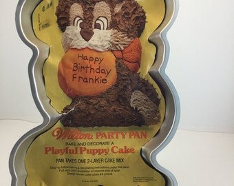 Vintage Playful Puppy Wilton Cake Pan 1978