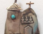 Vintage Sterling Mexican Chapels Brooch Hallmarked
