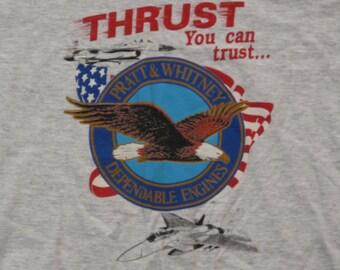 mens vintage Pratt Whitney novelty t shirt