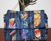 Pieced Purse Parrots and Lizards