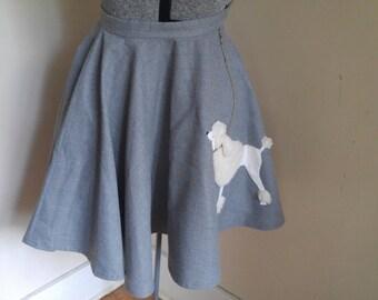 Very Cute Vintage Grey Poodle Skirt.