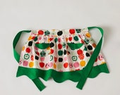 Child's Half Apron Betsy Colorful Apples