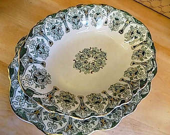 Antique Meakin Bowl & Serving Platter - Cottage Chic  - Home Decor - Celtic Knots