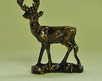 The Dolls House Miniature Bronze Style Stag Ornament