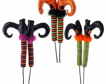 "RAZ 26"" Posable Witches Legs, Wreath Decor, Halloween Decor"