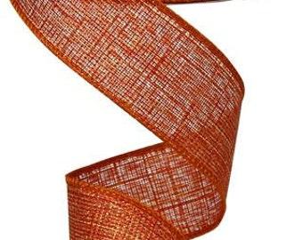 1.5 Inch Copper Metallic Royal Ribbon RG0101252, Deco Mesh Supplies