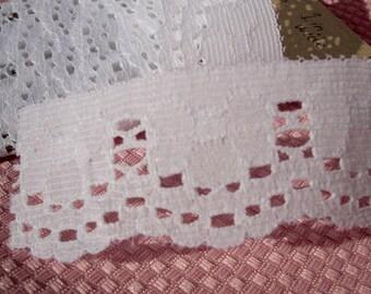 Vintage Lace Trim White