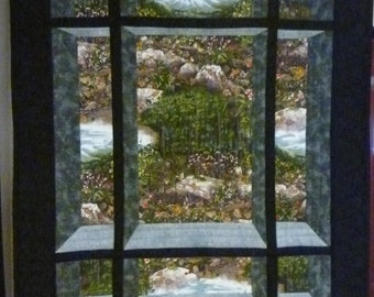 Scenic View 2 quilted wall hanging