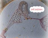 umbrella girl hand embroidery pattern pdf