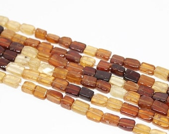 VALENTINE SALE 55% Shaded Hessonite Garnet Smooth Rectangle Beads Strand, 13 Inches, 5-9mm, SKU10228R