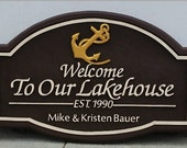 Custom Personal Name Sign home decor housewares custom sign custom cabin sign custom lake house sign welcome sign address sign personal sign