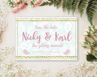 Save the date card customised for your wedding