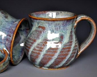Pottery Mug Ceramic Coffee Mug Stoneware Mug Striped